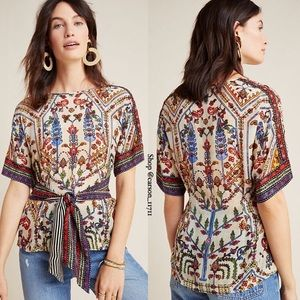 🦄Anthropologie Meknes Blouse L by Vineet Bahl